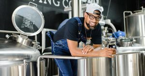 arcus Baskerville, head brewer and co-founder of Weathered Souls Brewing Company